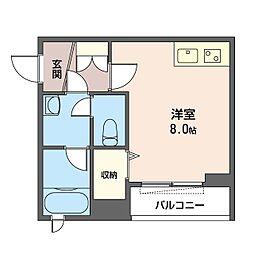 仮)中野区中野6丁目シャーメゾン 3階ワンルームの間取り