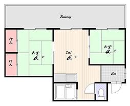 エスポワール板宿[4階]の間取り