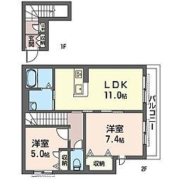 茅ヶ崎市下町屋2丁目シャーメゾン(仮)[203号室]の間取り
