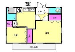 村松アパート[201号室]の間取り