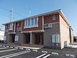 栃木県真岡市上高間木1丁目の賃貸アパートの外観