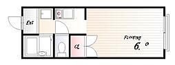 サンコート板宿[2階]の間取り