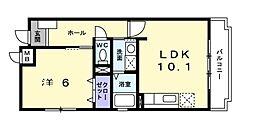 ロンポアンIII[2階]の間取り