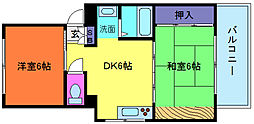 レイシットマンション[4階]の間取り