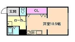 マンションいし井[1階]の間取り