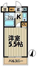 クリオ本郷台壱番館[103号室]の間取り