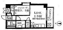 埼玉県草加市高砂1丁目の賃貸マンションの間取り