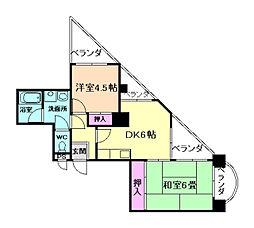 エクセレント野田[7階]の間取り