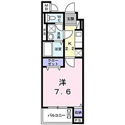 京成本線 八千代台駅 徒歩3分の賃貸マンション 5階1Kの間取り