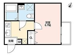 Comodo Casa 北浦和(コモドカーサキタウラワ)[1階]の間取り