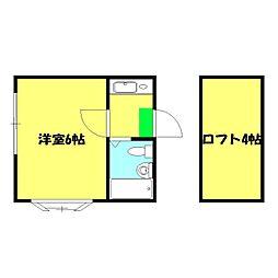 ハイム神奈川[101号室]の間取り