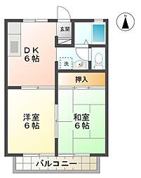 愛知県豊田市美里3丁目の賃貸アパートの間取り