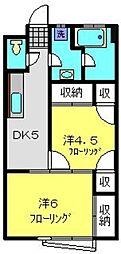 神奈川県横浜市港南区上永谷2丁目の賃貸マンションの間取り
