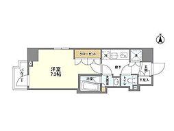 京王線 桜上水駅 徒歩8分の賃貸マンション 1階1Kの間取り