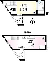 S・APMT(エスアパートメント) 2階1LDKの間取り
