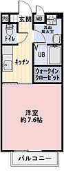 三重県四日市市赤堀1丁目の賃貸アパートの間取り