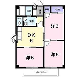 千葉県鎌ケ谷市東道野辺5丁目の賃貸アパートの間取り
