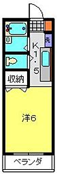 レインボーハウス[204号室]の間取り