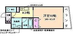 ドルフ福島[4階]の間取り