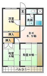 ツトムマンション[2階]の間取り