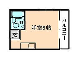 レジデンスニシムラ[3階]の間取り