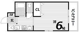 シャトレ白川台[2階]の間取り