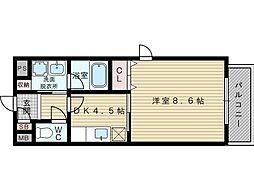 グレイスフォンティーヌ[3階]の間取り