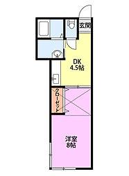 新潟県新潟市中央区姥ケ山4丁目の賃貸アパートの間取り