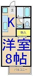 JOY ONE[2階]の間取り