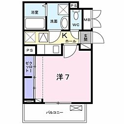 JR中央線 豊田駅 徒歩14分の賃貸アパート 1階1Kの間取り