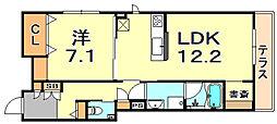(仮称)シャーメゾン神戸市東灘区深江南町 1階1LDKの間取り