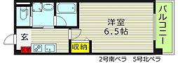 CASA MIA カーサミーア 1階1Kの間取り