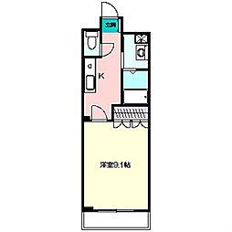 神奈川県横浜市泉区中田南3丁目の賃貸マンションの間取り