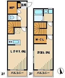 Luce 2階1LDKの間取り
