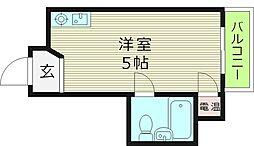 大阪府大阪市都島区都島中通3丁目の賃貸マンションの間取り