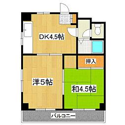 東京都江戸川区北小岩4丁目の賃貸マンションの間取り