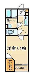 レオネクスト岡シティーパレス53597 1階1Kの間取り