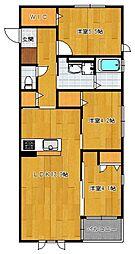 仮)野芥4丁目新築オートロック付アパート[101号室]の間取り