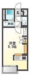 愛知県豊川市八幡町宮下の賃貸アパートの間取り