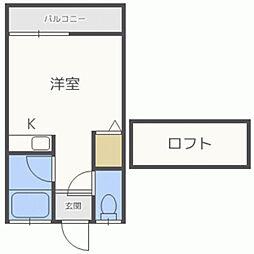 フラット須玖[202号室]の間取り
