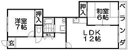 ローレル東山[2階]の間取り