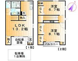 [テラスハウス] 東京都足立区扇2丁目 の賃貸【/】の間取り