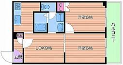 エルベ都島[2階]の間取り