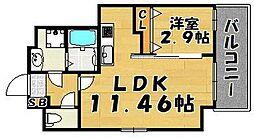 ウインステージ箱崎II[1001号室]の間取り