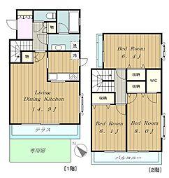 [テラスハウス] 東京都府中市四谷6丁目 の賃貸【/】の間取り