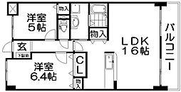 ココプラザ[3階]の間取り