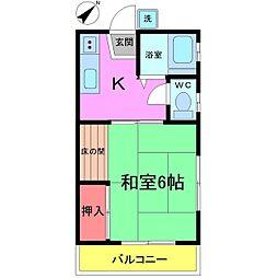 東京都江戸川区北小岩3丁目の賃貸アパートの間取り