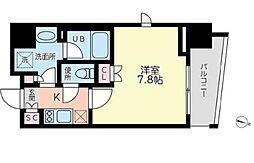 サンイング飯田橋 4階1Kの間取り
