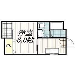 ぐりんりいふ[1階]の間取り