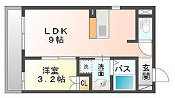 竜美丘Residence[3階]の間取り